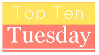 "Colour graphic that says ""Top Ten Tuesday""."